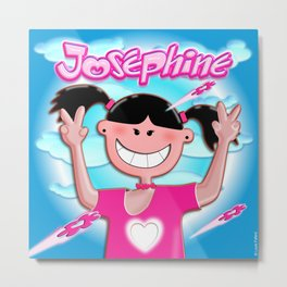 Josephine with pink shirt! Metal Print