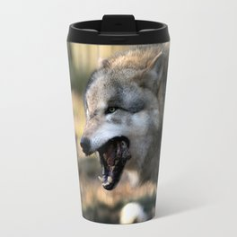 The wolf is hungry Travel Mug