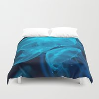 jelly fish Duvet Covers featuring Jelly Fish by Robert Payton