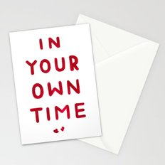In Your Own Time Stationery Cards