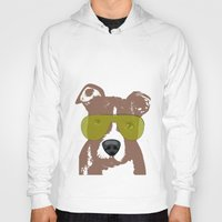 pit bull Hoodies featuring American Pit Bull Terrier by ialbert