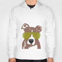 bull terrier Hoodies featuring American Pit Bull Terrier by ialbert