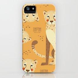 Cheetah, African Wildlife iPhone Case