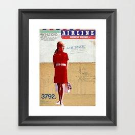 """""""Flight Attendant"""" Framed Art Print"""