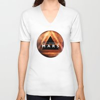 30 seconds to mars V-neck T-shirts featuring 30 Seconds to Mars by AshThePixster