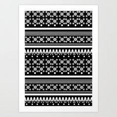 Christmas Jumper Black Art Print
