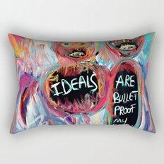 Ideals are bulletproof my dear Street Art Graffiti Rectangular Pillow