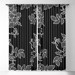 LIVING IN BLACK AND WHITE Blackout Curtain
