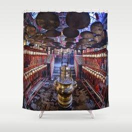 The Oriental Boudhist Temple Shower Curtain