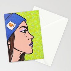 Knit Hat Girl Stationery Cards
