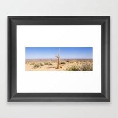 Namibian Landscape - Dead Quiver Tree Framed Art Print