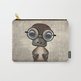 Cute Nerdy Platypus Wearing Glasses Carry-All Pouch
