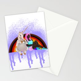 BFF's with more color more pride flag Stationery Cards