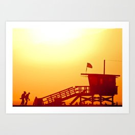 Shadows in the Sunset Art Print
