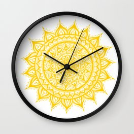 Sunflower-Yellow Wall Clock
