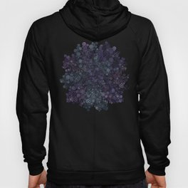 3d Psychedelic Violet and Teal Hoody