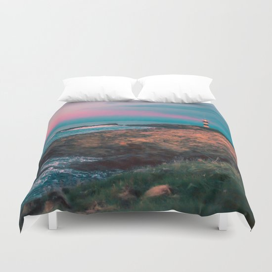 Lighthouse of the Isla Pancha Duvet Cover