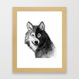 Ying Yang Wolf Framed Art Print