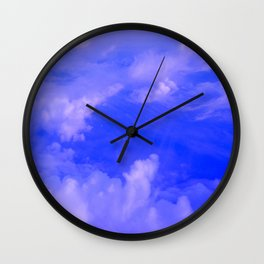 Aerial Blue Hues III Wall Clock