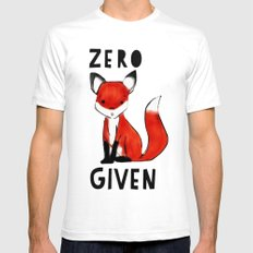 Zero Fox Given White Mens Fitted Tee SMALL