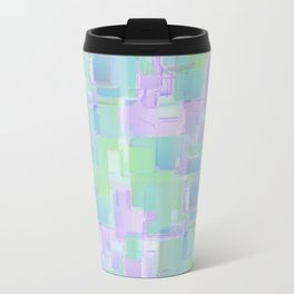 Abstraction. Purple and green brush strokes Travel Mug