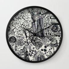 Black/White #2 Wall Clock