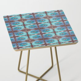 Bird Song Pattern Side Table