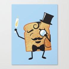 Sir Toast Makes a Toast Canvas Print