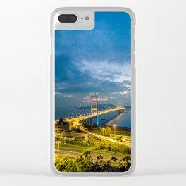 Hong Kong Landmark Tsing Bridge at dusk Clear iPhone Case