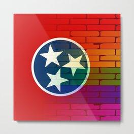 Rainbow Wall Tennessee Metal Print
