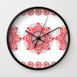 """Rose Flower Power ^_^"" Wall Clock"