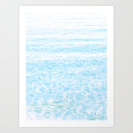 peaceful sea Art Print