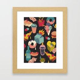 Guilty pleasure set Framed Art Print
