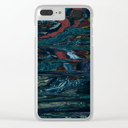 Digital Waterfall Clear iPhone Case