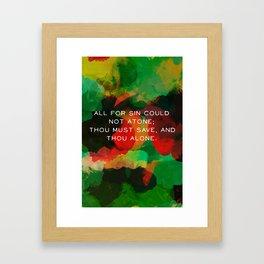 Cleft For Me Framed Art Print