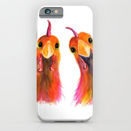 Happy Hens Chickens ' HARRIET & HUMBUG 2 ' by Shirley MacArthur iPhone Case