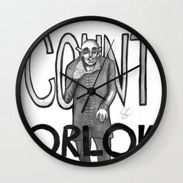 Count Orlok (Nosferatu) Wall Clock