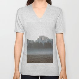 Morning Mist, Yosemite Unisex V-Neck