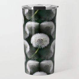 White Dandelion Blowballs Black Background #decor #society6 #buyart Travel Mug
