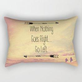 Go Left. Rectangular Pillow