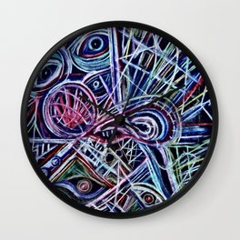 Eyes on a dancefloor Wall Clock