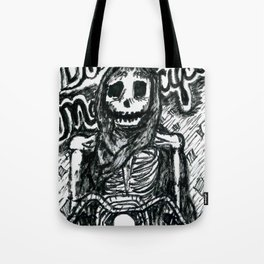 Death on a Motorcycle Tote Bag