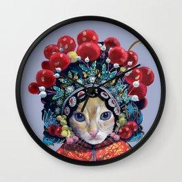 peking opera cat Wall Clock