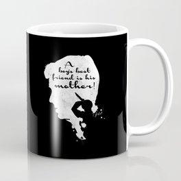 Boy's best friend – Norman Bates Psycho Silhouette Quote Coffee Mug