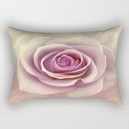 Tea Rose Painterly Abstract Rectangular Pillow