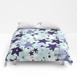 Fun pattern with stars and twinkle lights Comforters