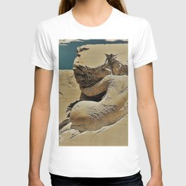 Photograph of Pascale Archambault's Haunting Sculpture Symbiosis T-shirt