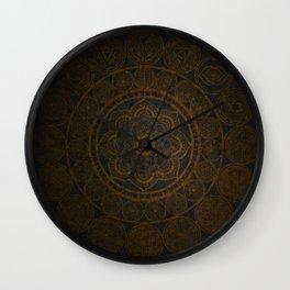 Circular Connections Copper Wall Clock