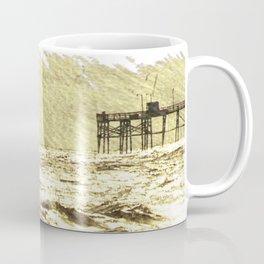 Oak Island, Surf in Gold Coffee Mug