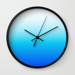 Beachy Blues Wall Clock